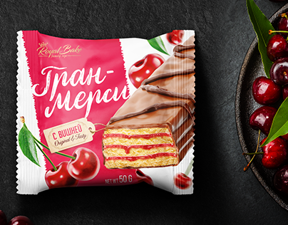 Cherry cake, packaging design