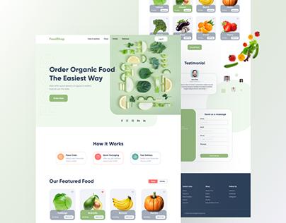 FoodShop- Food delivery website