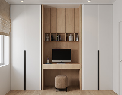 Small cabinet in Japanese minimalism