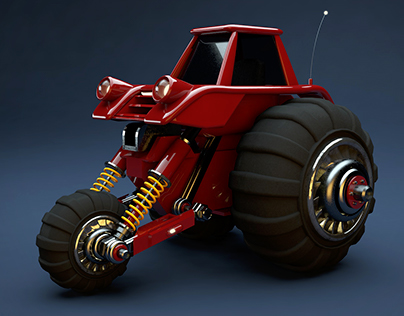 Heavily equipped tractor model