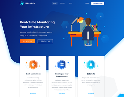 "ZERCURITY Website ""Design Training"""