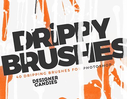 Dripping Paint Brushes for Photoshop