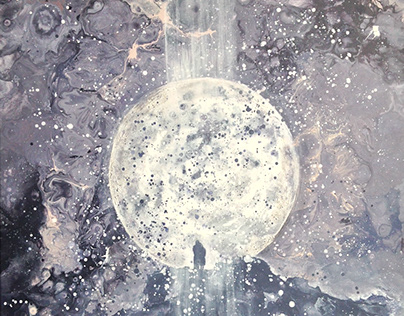 Moon. Author's painting.