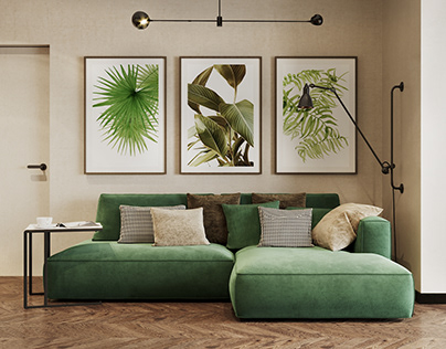 Design and visualization of the living room