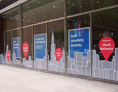 BMO Harris Bank Chicago Flagship Window Wrap