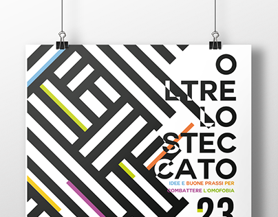 OLTRE LO STECCATO // against homophobia. // Poster