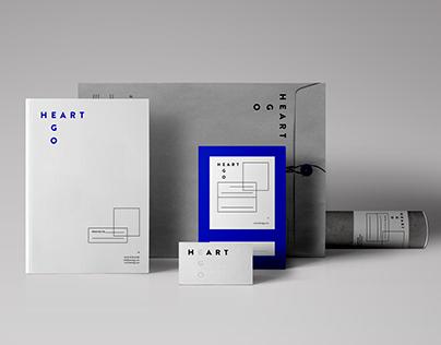 HEART EGO Contemporary Art Logo + Stationary Design