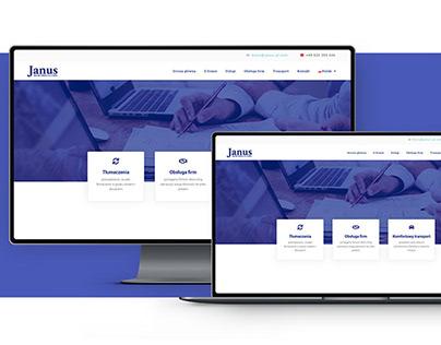 Strona internetowa firmy Janus Biuro Obsługi Firm