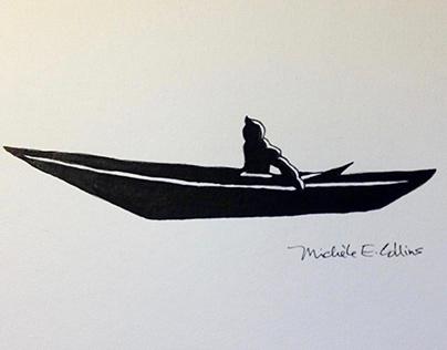 'Kayak' Illustration from 'Native Born Son'