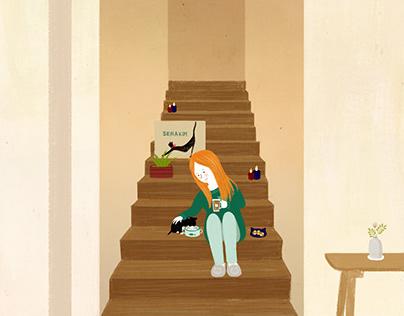 고양이집사의 휴일