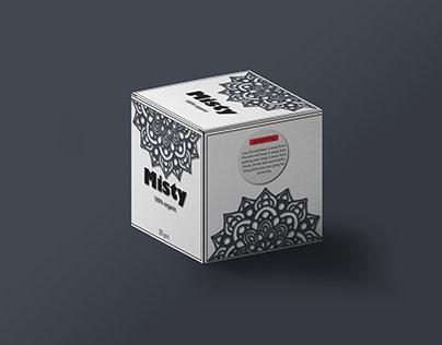 Misty (candel)- packging