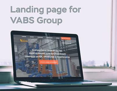 Лендинг пейдж для предприятия VABS