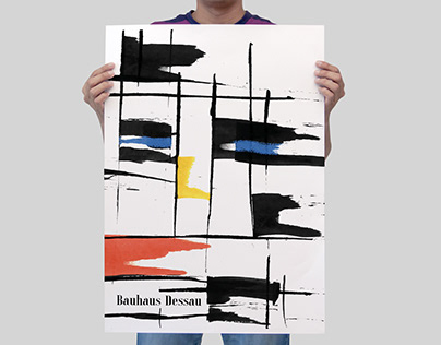 Posters inspired by Bauhaus