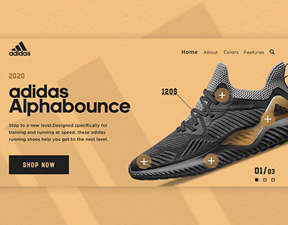 Landing page - Adidas Alphabounce