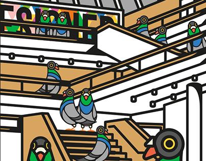 London Lockdown Pigeons