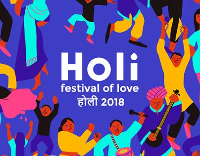 Holi Festival Design