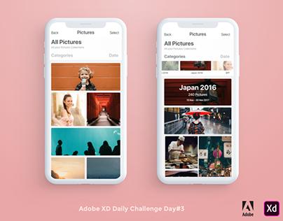 Adobe XD Daily Challenge - Day #3