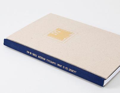Fin-de-Siècle Austrian Typography //Dissertation