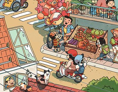 Illustration for Uniqlo