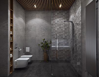 Concrete shower room