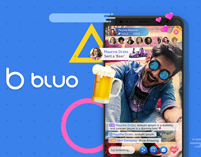 Bluo - LIVE Streaming App UX