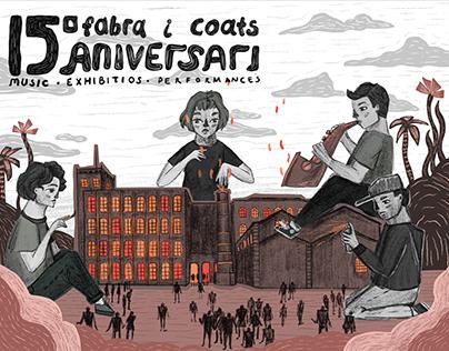 Fabra i Coats - Anniversary Poster Illustrations