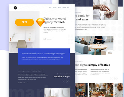 Freebie Digital Marketing Agency Home page