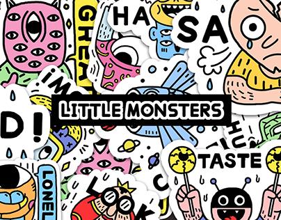 Design of small monster sticker小怪兽贴纸设计