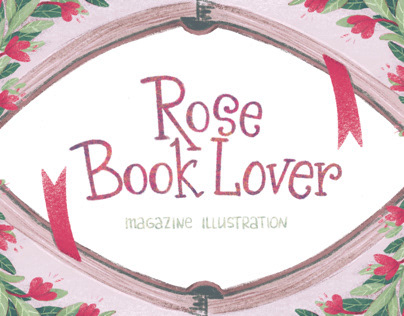 Rose Book Lover - Magazine illustration