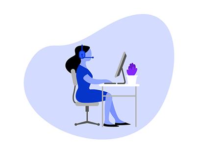 Call Center Solution Presentational Video Animation