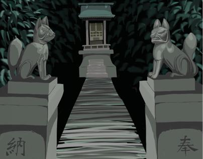 A pair of spiritual foxs