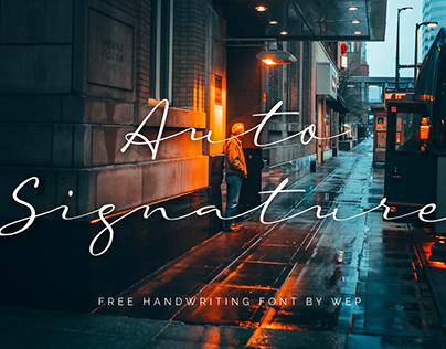 AUTO SIGNATURE - FREE SIGNATURE SCRIPT FONT