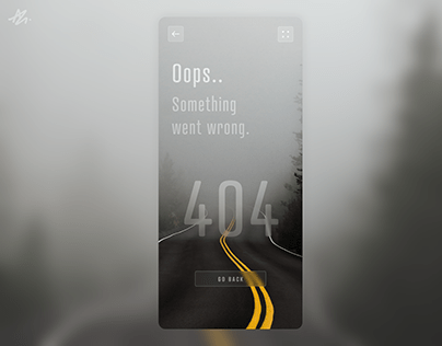 404 Not found · Screen concept