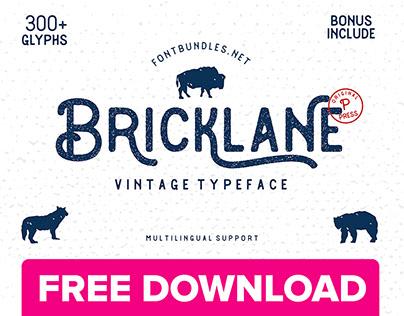 Bricklane Free Font Download