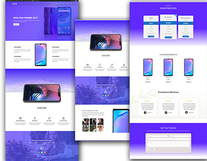 WordPress App Landing Page with shop feature.