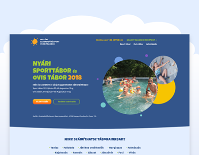 Gellert Summer Camp website design