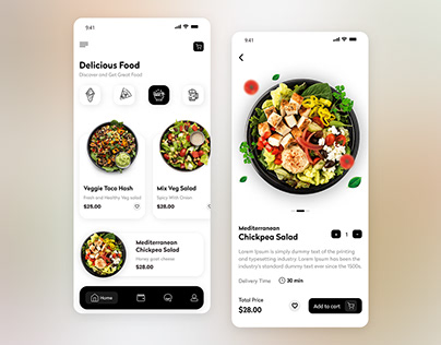 Best Food Delivery App UI Design