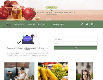 Blog site on Healthy food