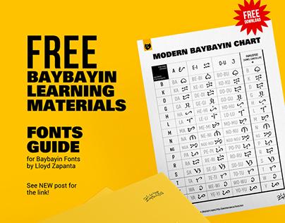 Baybayin Fonts Guide + Modern Baybayin Chart