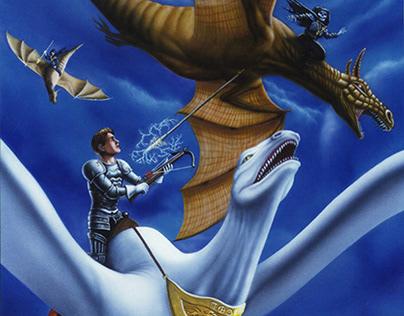 Warrior rides the white dragon