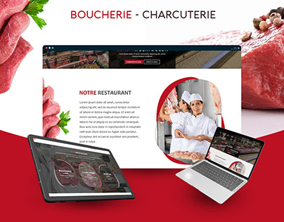 Maquette site web Boucherie & Charcuterie