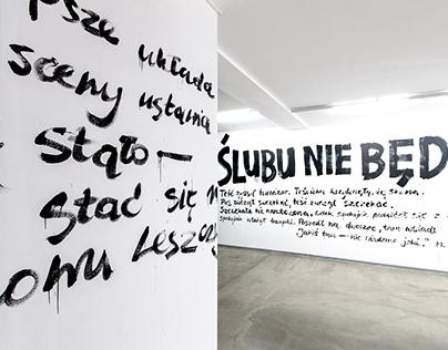 Lettering instalation