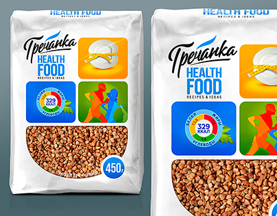"""Buckwheat """"GRECHANKA"""" health food. Packaging Design."""