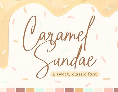 Caramel Sundae Font