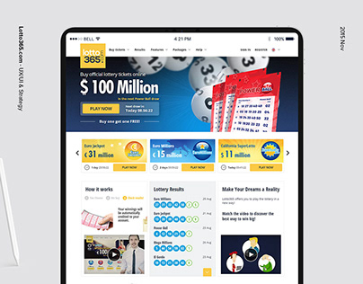 Lotto365-Responsive Website