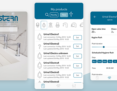 Stern sanitary products app, helps to keep it clean
