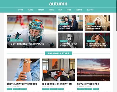 Autumn / A Wordpress Theme