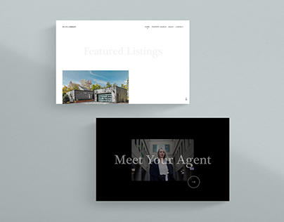 Minimal Real Estate Agent Website