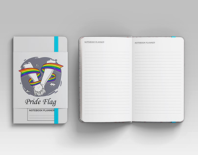 Pride Flag Notebook Planner