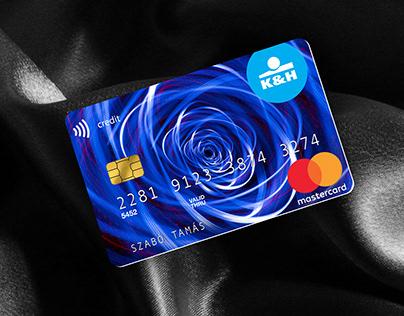 K&H Bank bank card concept